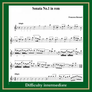 Barsanti Sonata in d moll