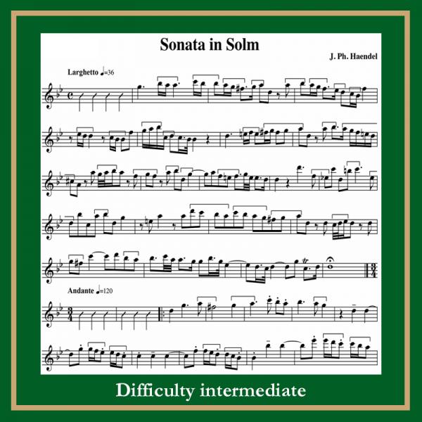 Handel sonata in g moll