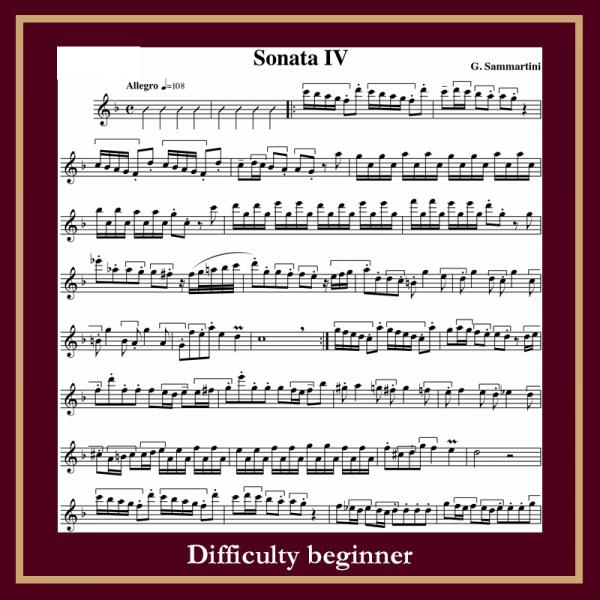 Sammartini sonata IV