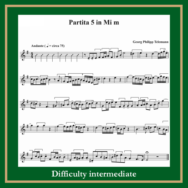 Telemann Partita n. 5
