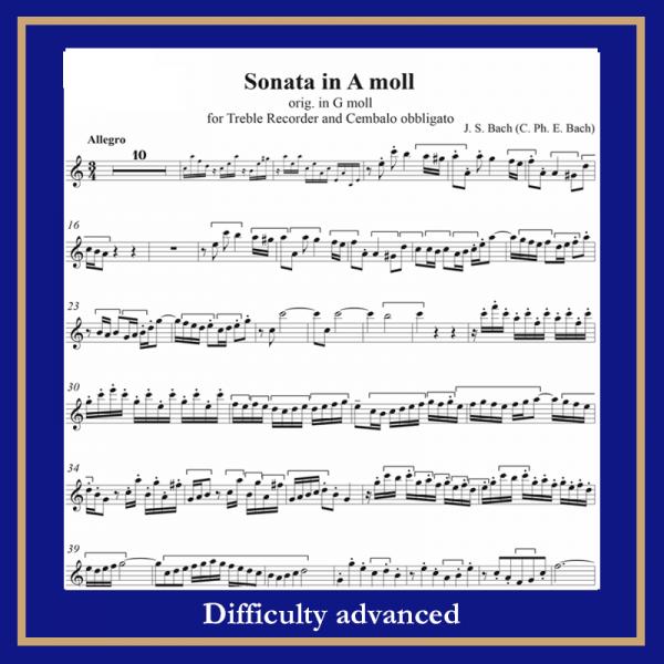 Bach Sonata in am