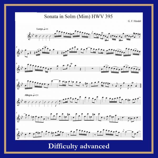 Haendel Sonata in g moll HWV 395