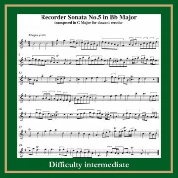 Haendel Sonata n. 5 in Bb major
