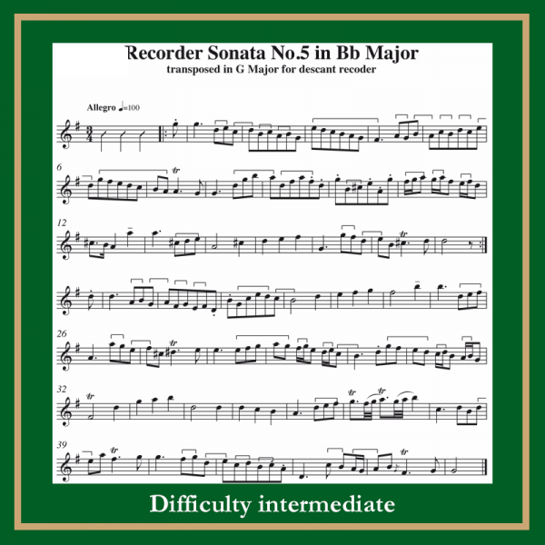 Haendel Sonata n. 5 in Bb major