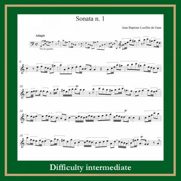 Loillet Sonata op1 n. 1