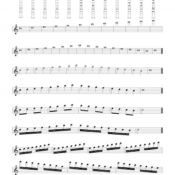 Scales for Treble Recorder