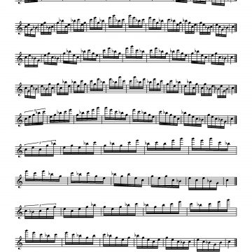 Arpeggios for Treble Recorder