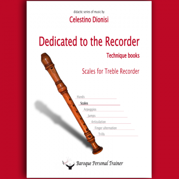 Scales fo treble recorder