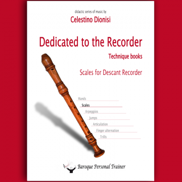 Scales fo descant recorder