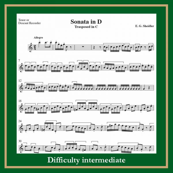 Scheidler Sonata in D (trasp. C)