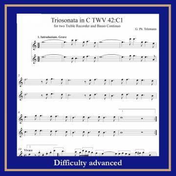 Telemann Triosonata TWV 42-C1