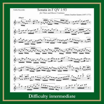 Quantz Sonata in F QV 1-93