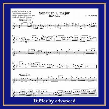 Haendel Sonata in G HWV 363a