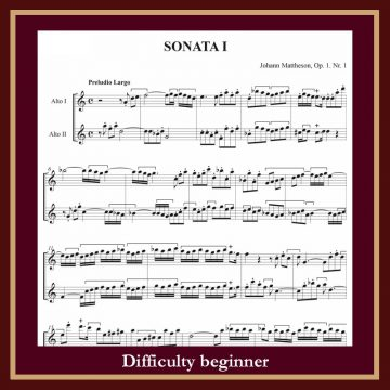 Mattheson Sonate op. 1 n. 1