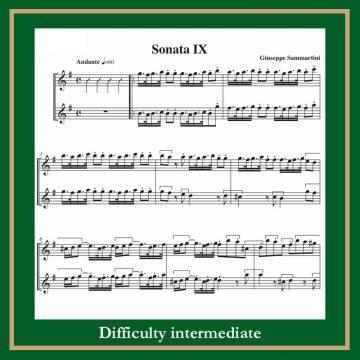 Sammartini Triosonata n. 9 in G