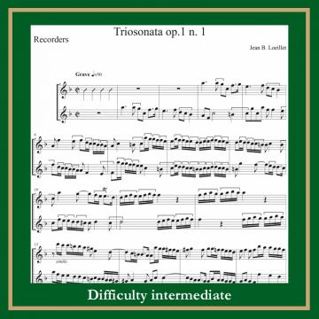 Loillet Sonata a 3 op.1 n. 1