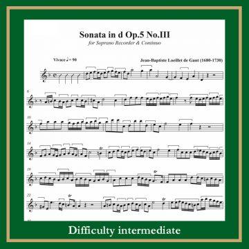 Loeillet Sonata op. 5 n. 3